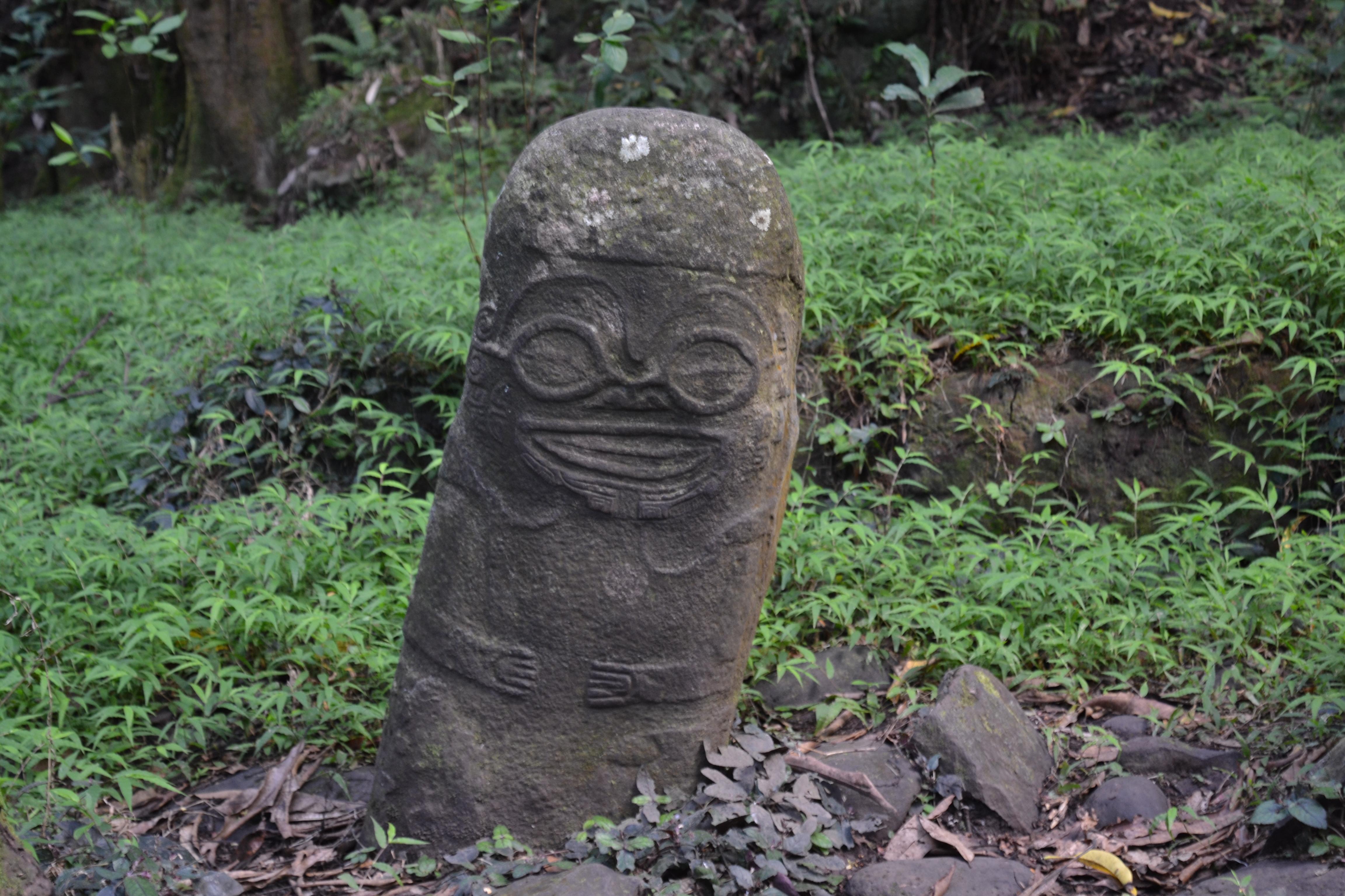 Hiva Oa - Tiki souriant